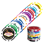 6850 8 Stripe Poker Chip Markers