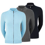 9986 FootJoy Womens Full Zip Lined Wool Blend Pullover