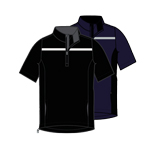 CGRF70E4 Callaway 1/2 Sleeve Chest Stripe Wind Jacket